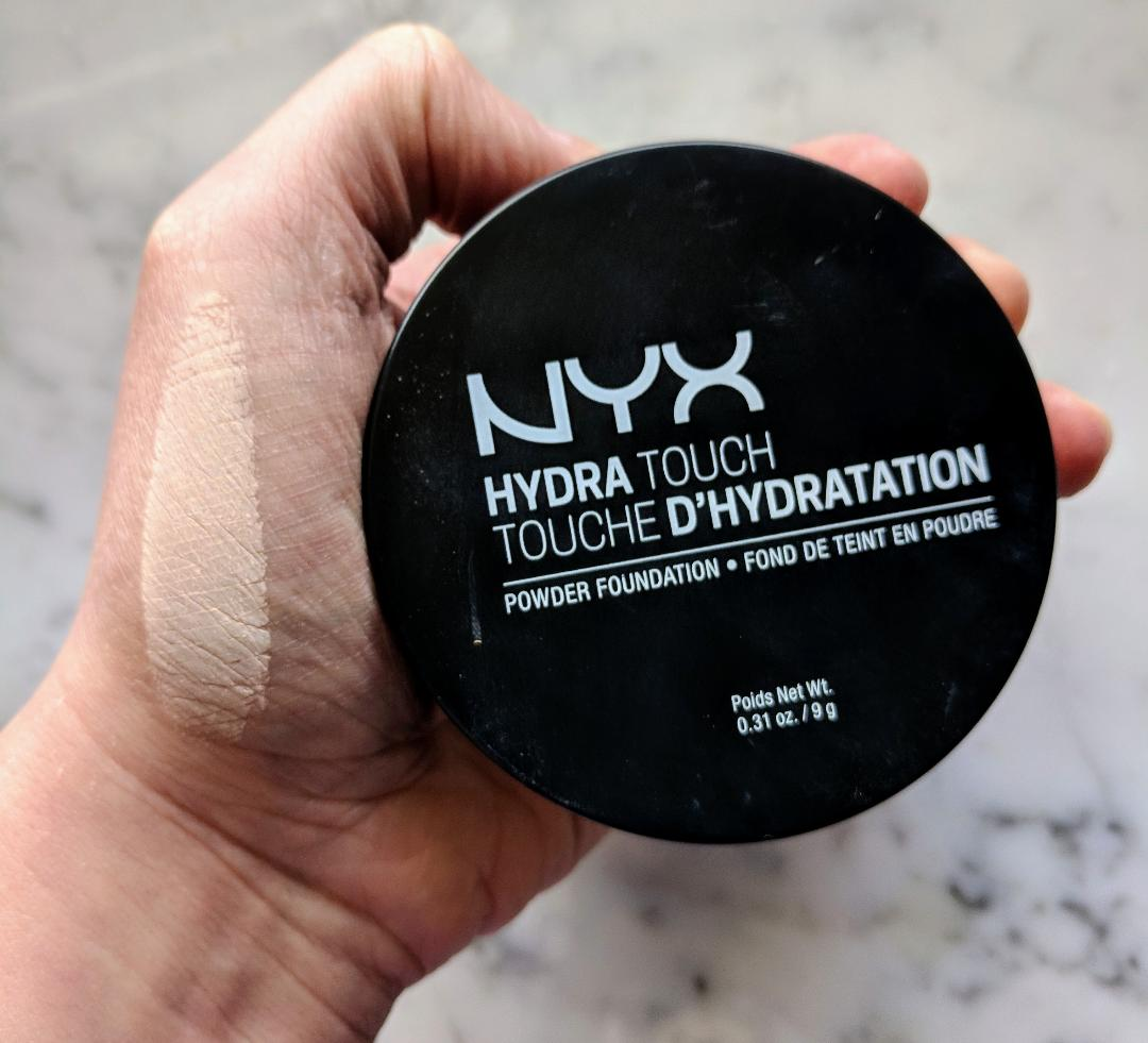 nyx hydra touch powder foundation review